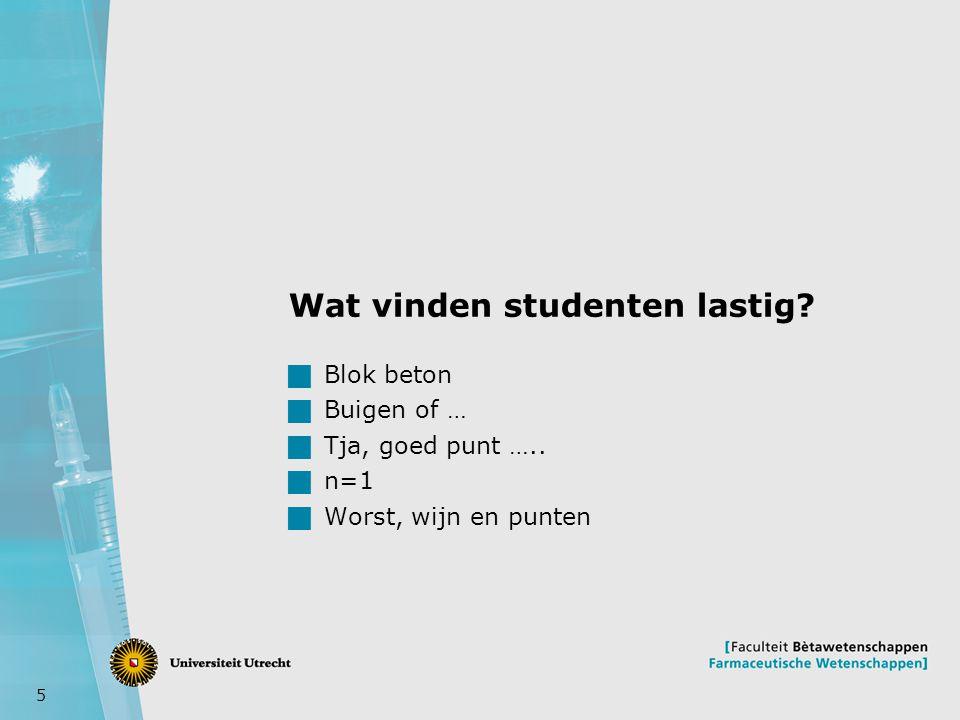 Wat vinden studenten lastig