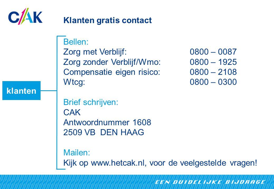 Klanten gratis contact