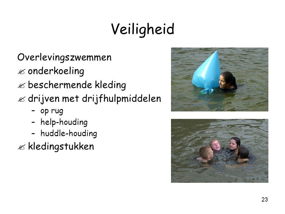 Veiligheid Overlevingszwemmen onderkoeling beschermende kleding