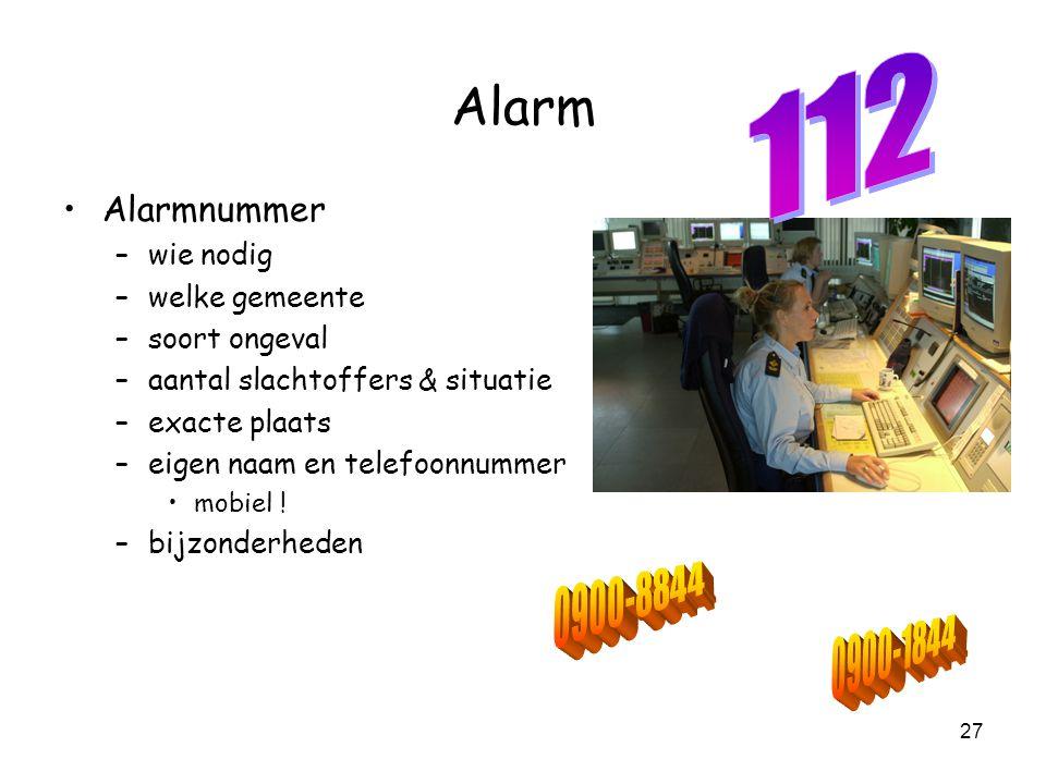 112 Alarm Alarmnummer wie nodig welke gemeente soort ongeval