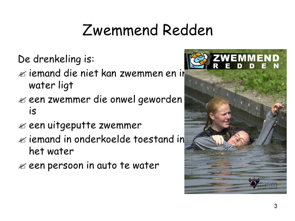 Zwemmend Redden De drenkeling is: