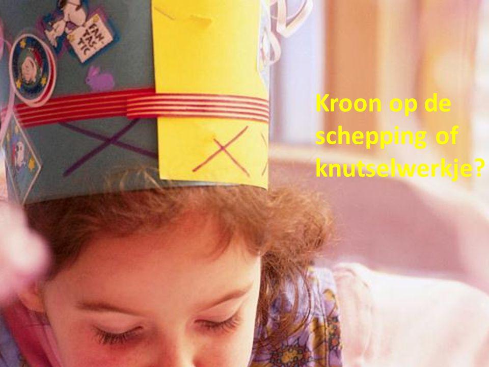 Kroon op de schepping of knutselwerkje