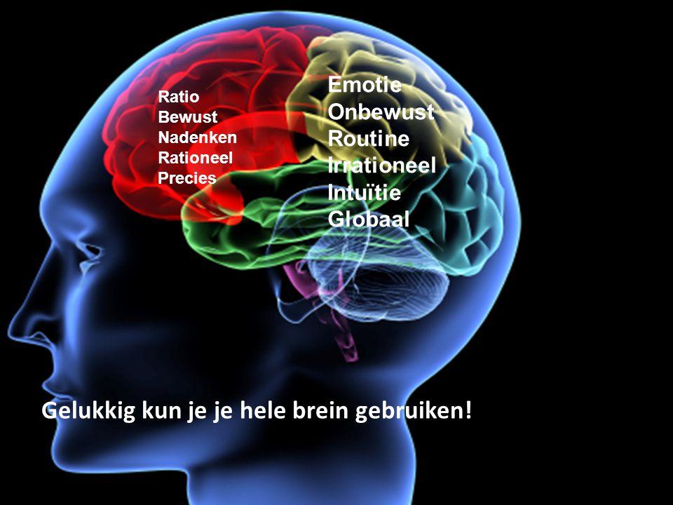 Gelukkig kun je je hele brein gebruiken!