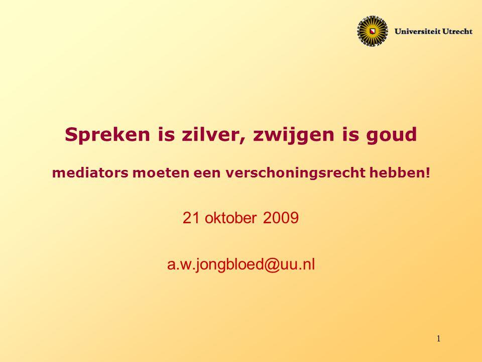 21 oktober 2009 a.w.jongbloed@uu.nl