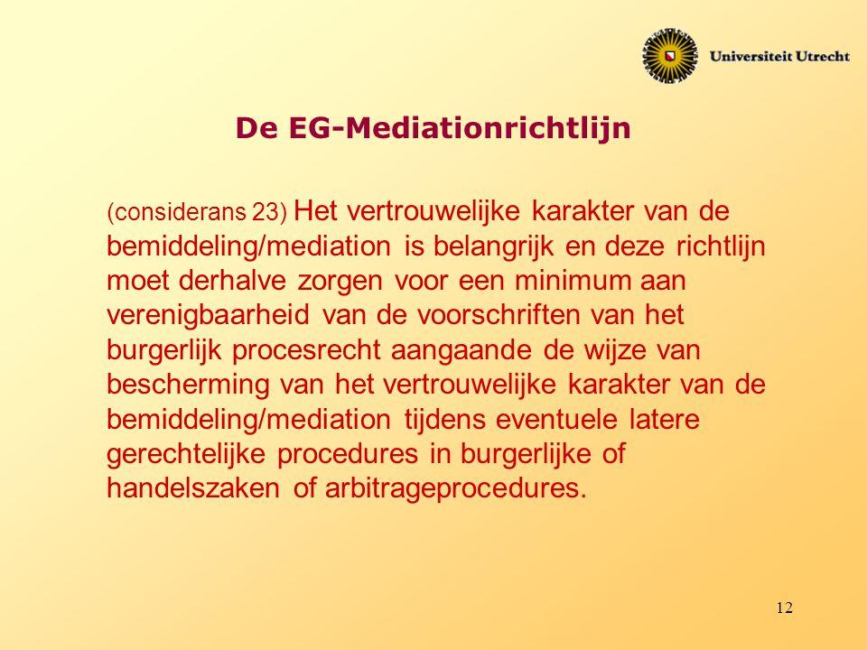 De EG-Mediationrichtlijn