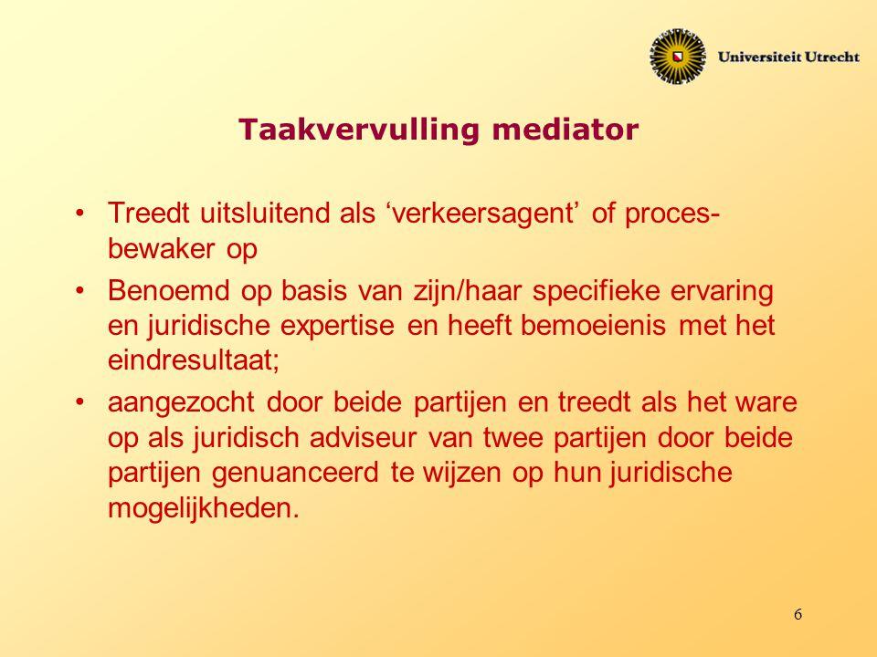 Taakvervulling mediator