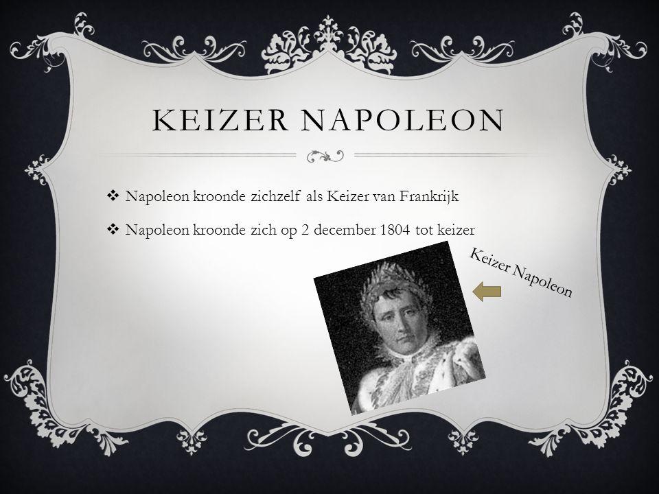 Keizer Napoleon Napoleon kroonde zichzelf als Keizer van Frankrijk