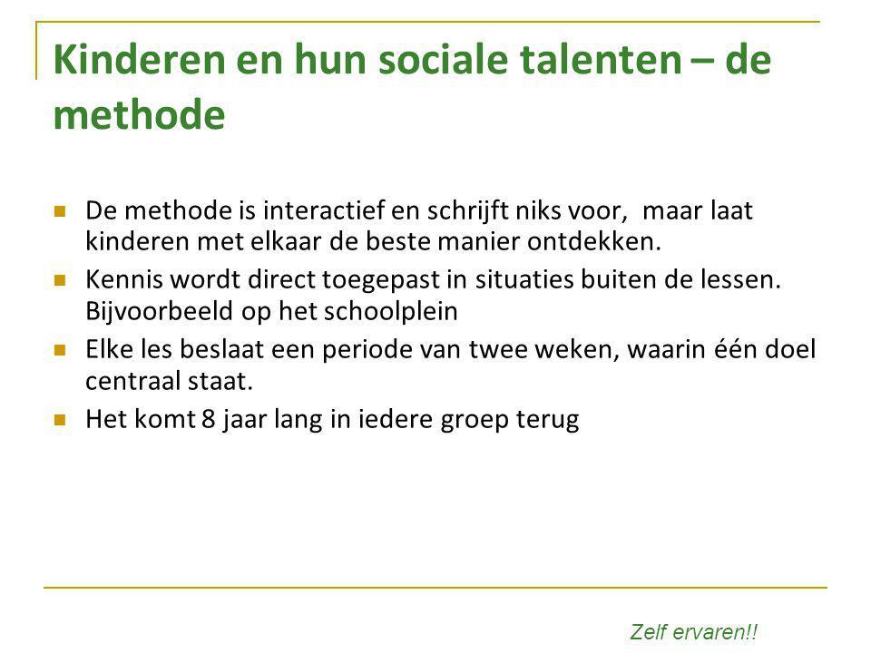 Kinderen en hun sociale talenten – de methode