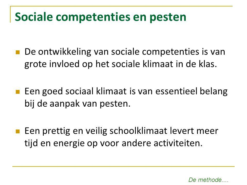 Sociale competenties en pesten