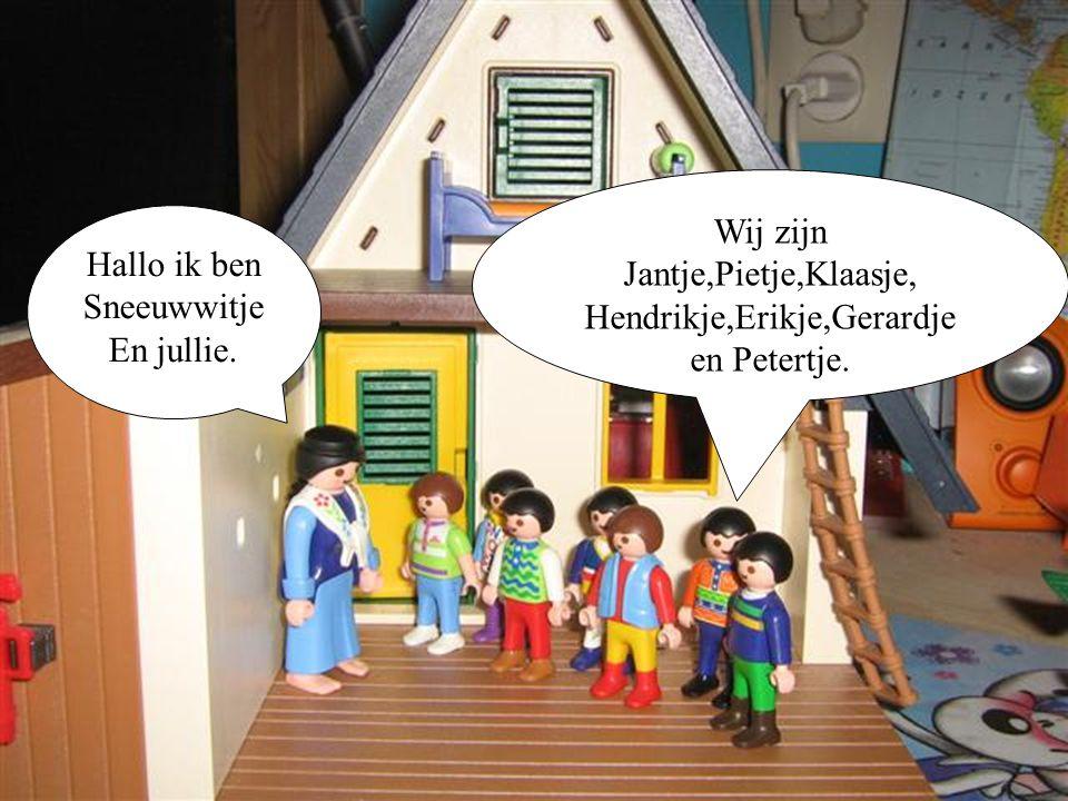 Wij zijn Jantje,Pietje,Klaasje, Hendrikje,Erikje,Gerardje en Petertje.