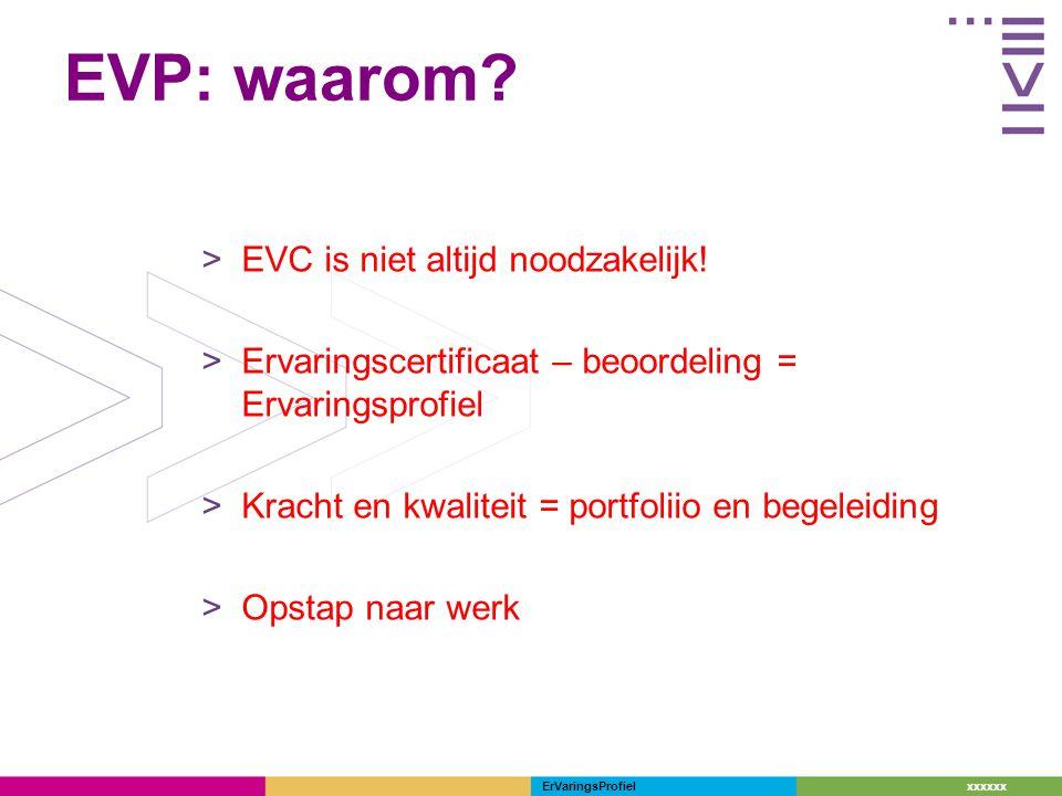 EVP: waarom EVC is niet altijd noodzakelijk!