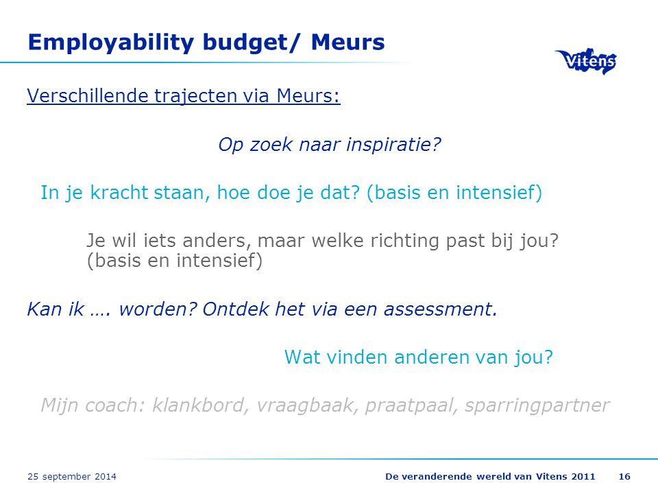 Employability budget/ Meurs