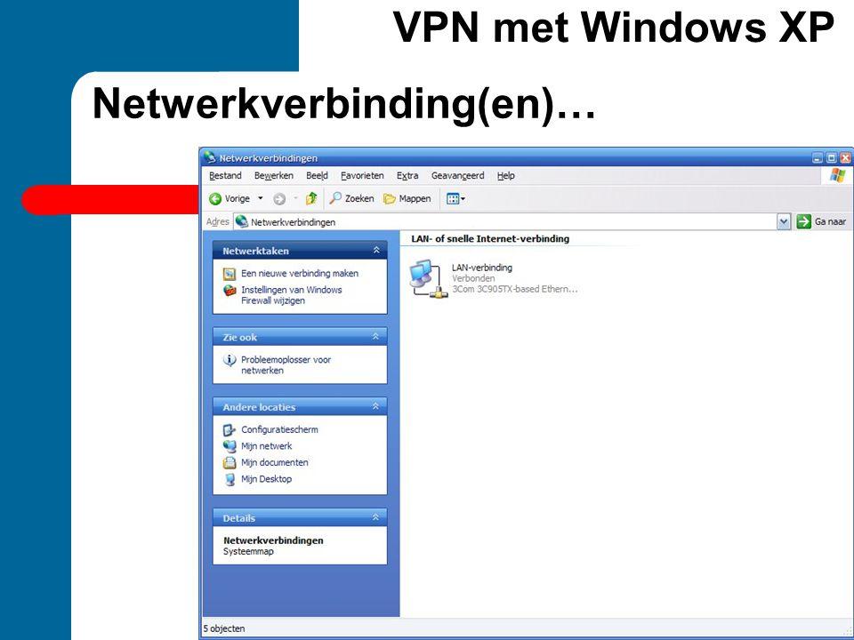 Netwerkverbinding(en)…