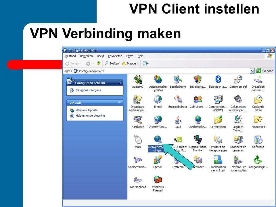VPN Client instellen VPN Verbinding maken