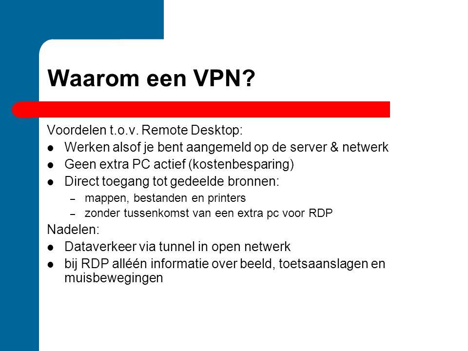 Waarom een VPN Voordelen t.o.v. Remote Desktop: