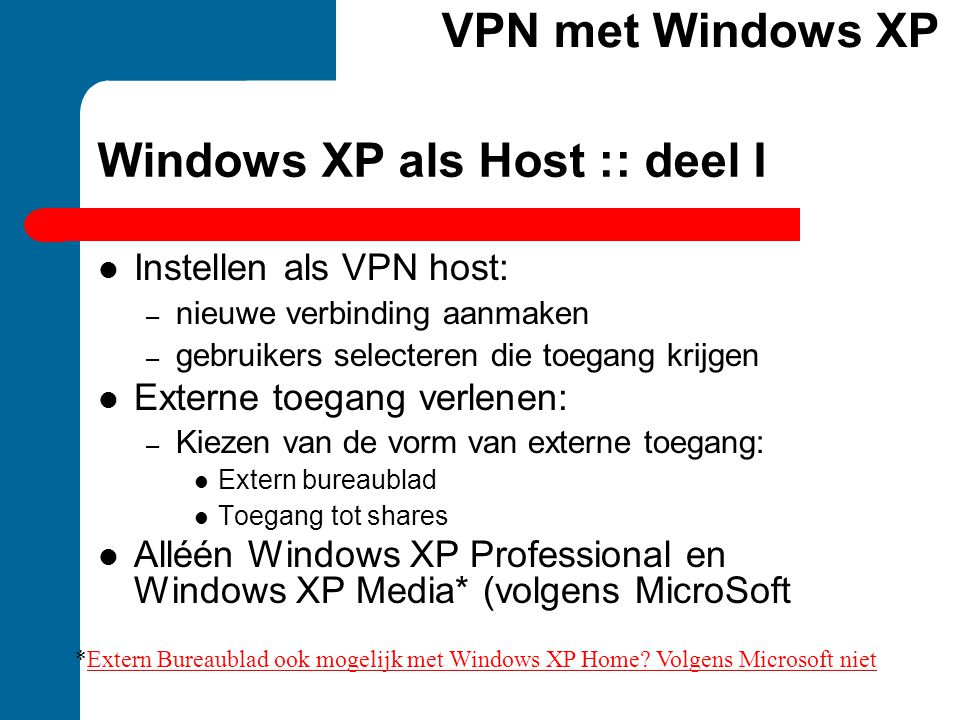 Windows XP als Host :: deel I