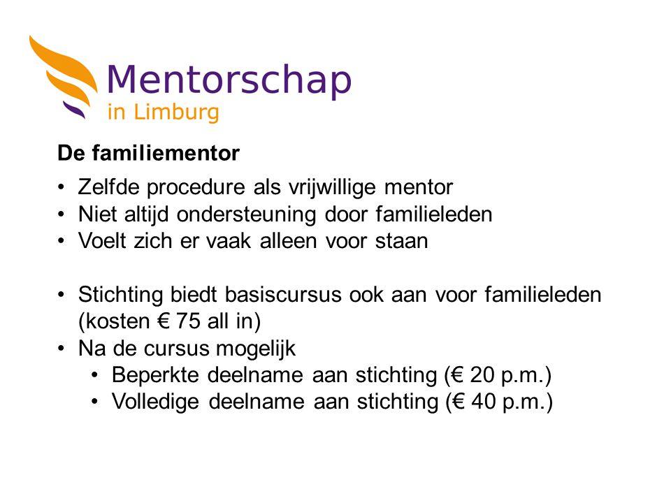 Zelfde procedure als vrijwillige mentor