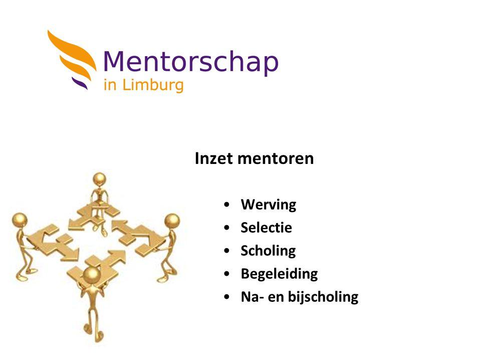 Inzet mentoren Werving Selectie Scholing Begeleiding