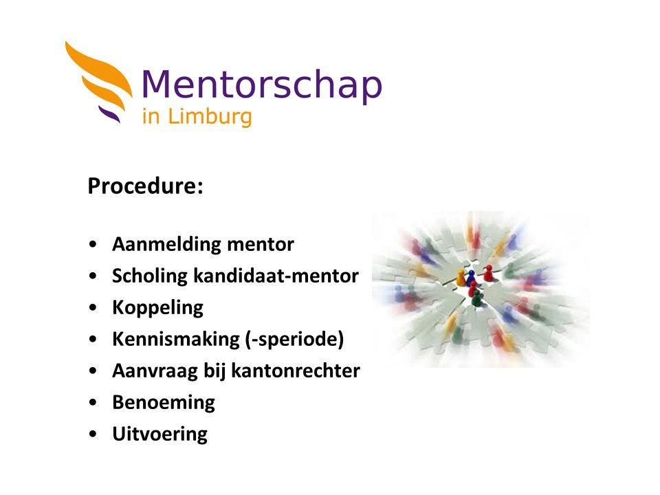 Procedure: Aanmelding mentor Scholing kandidaat-mentor Koppeling