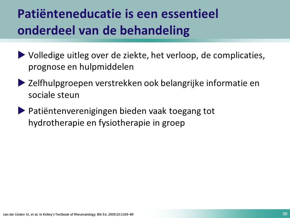 Patiënteneducatie is een essentieel onderdeel van de behandeling