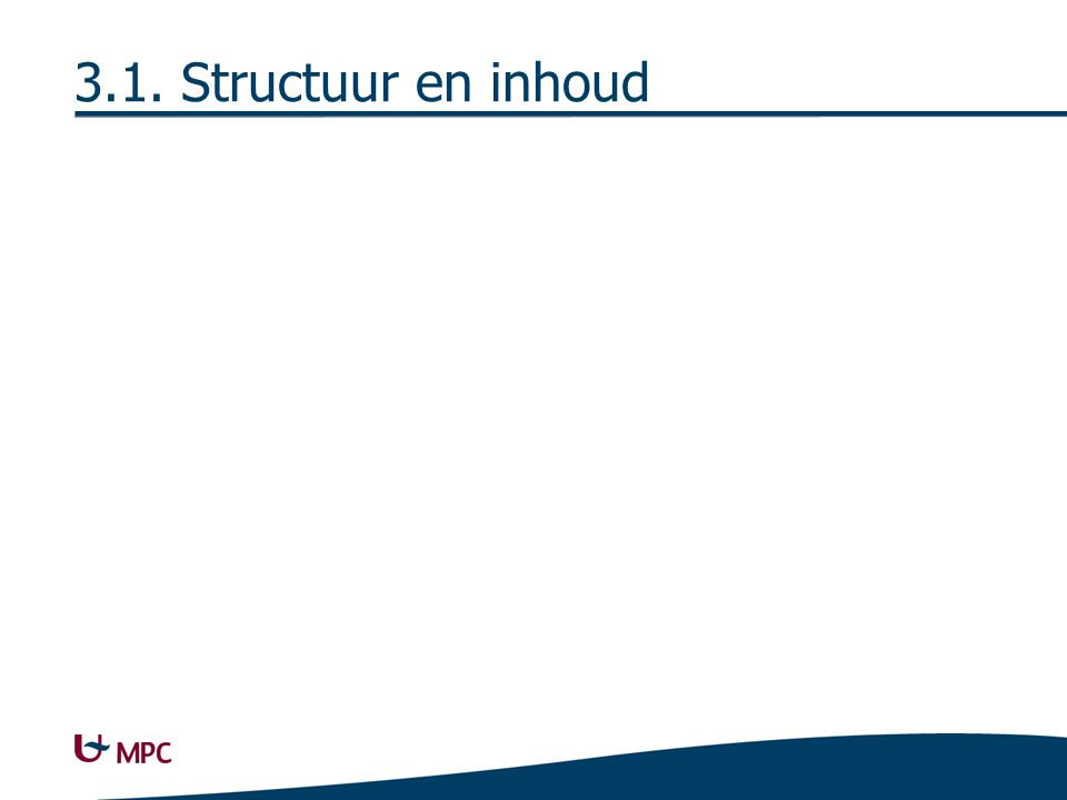 3.1.1. Structuur Boomstructuur