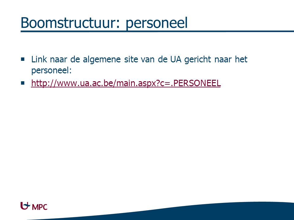 Boomstructuur: contact