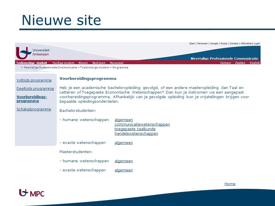 Nieuwe site Voltijds programma ACADEMISCHE BACHELORS