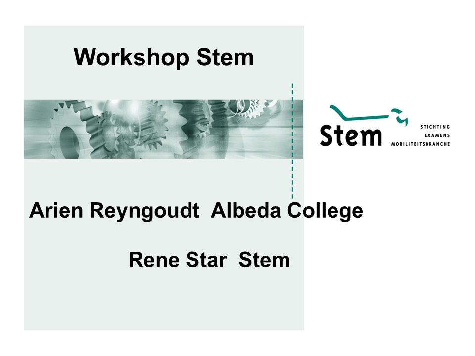 Workshop Stem Arien Reyngoudt Albeda College Rene Star Stem