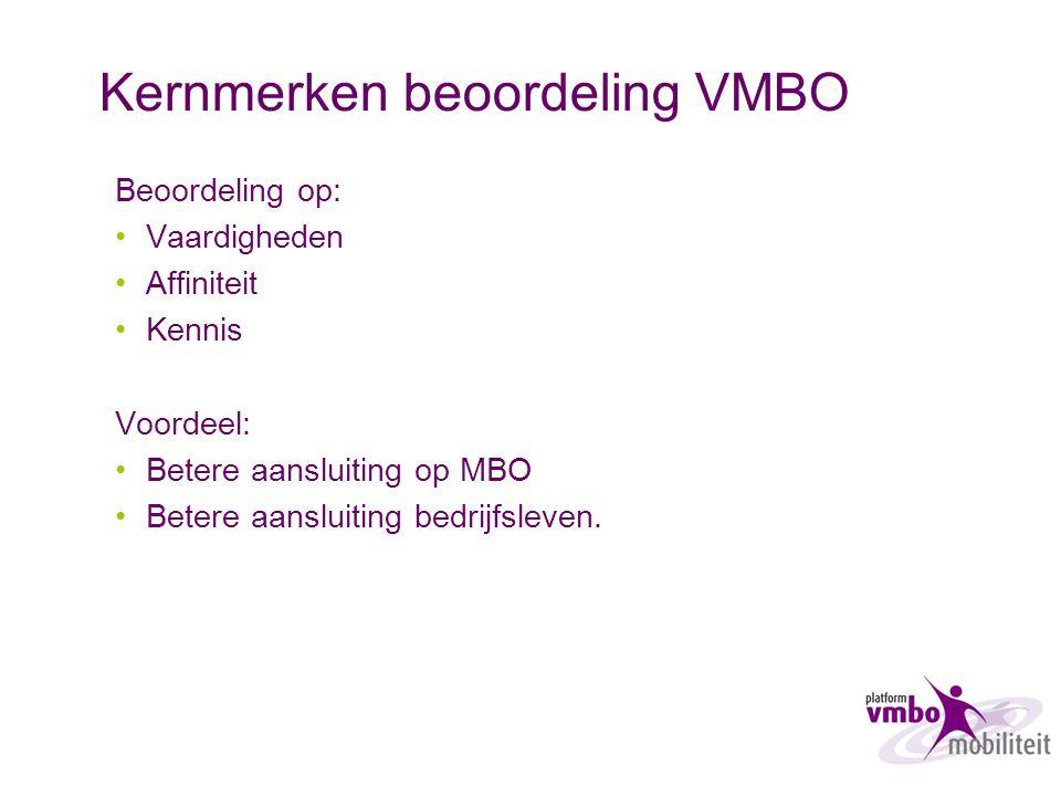 Kernmerken beoordeling VMBO