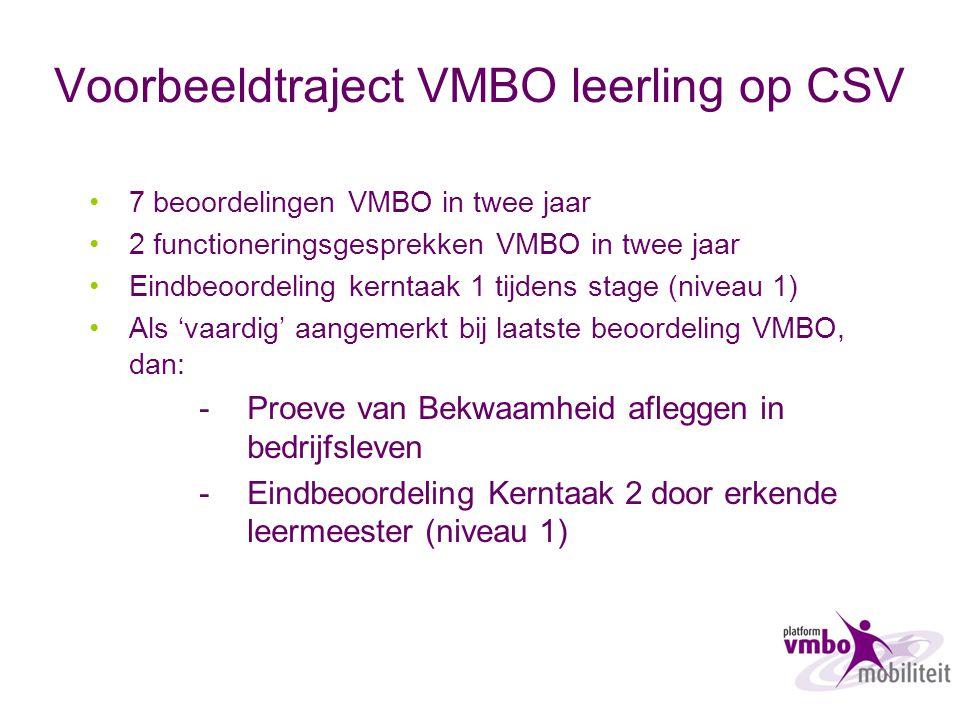 Voorbeeldtraject VMBO leerling op CSV