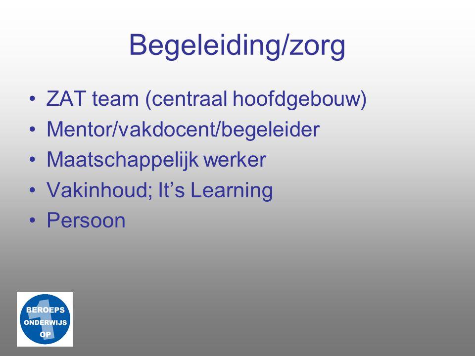 Begeleiding/zorg ZAT team (centraal hoofdgebouw)