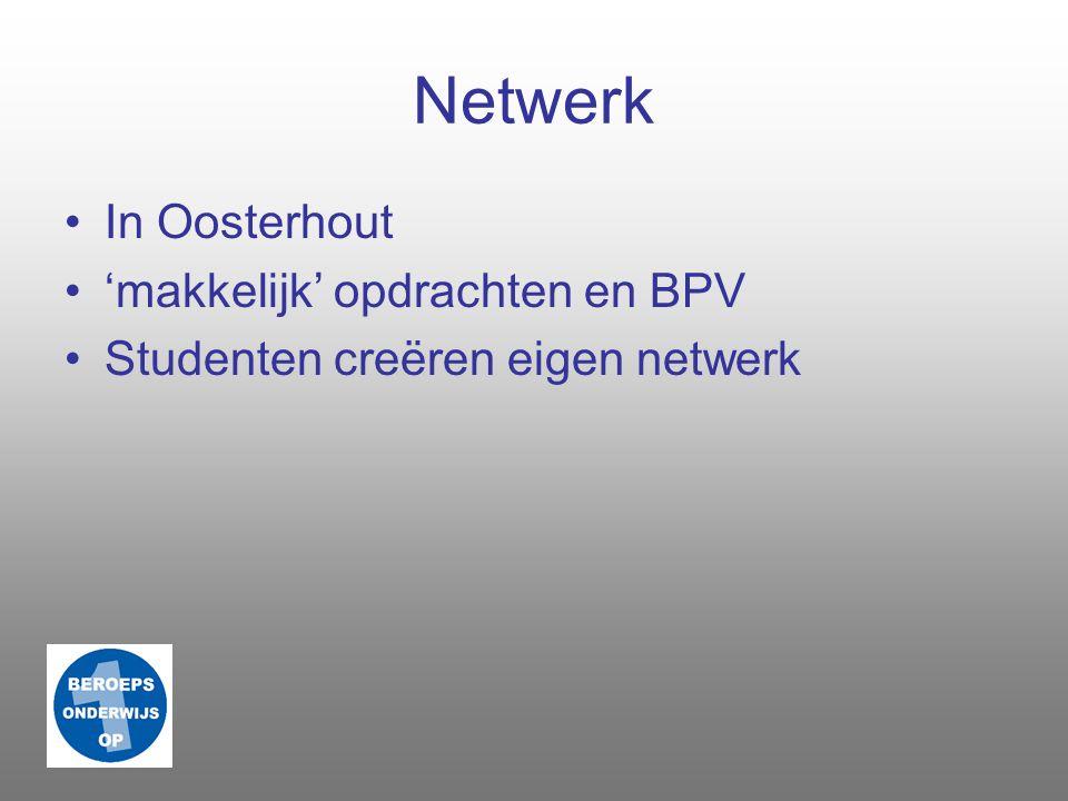 Netwerk In Oosterhout 'makkelijk' opdrachten en BPV