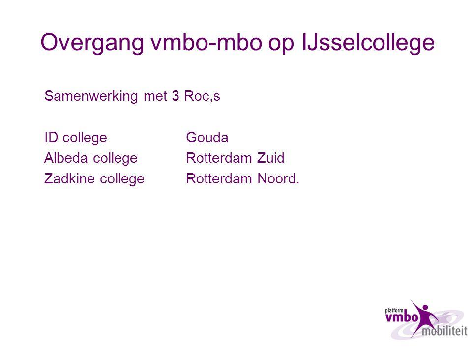 Overgang vmbo-mbo op IJsselcollege