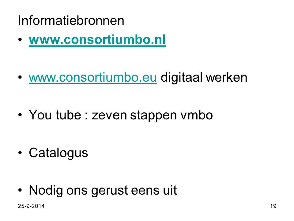 www.consortiumbo.eu digitaal werken You tube : zeven stappen vmbo