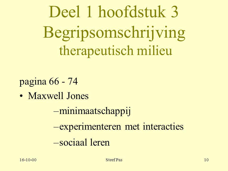 Deel 1 hoofdstuk 3 Begripsomschrijving therapeutisch milieu