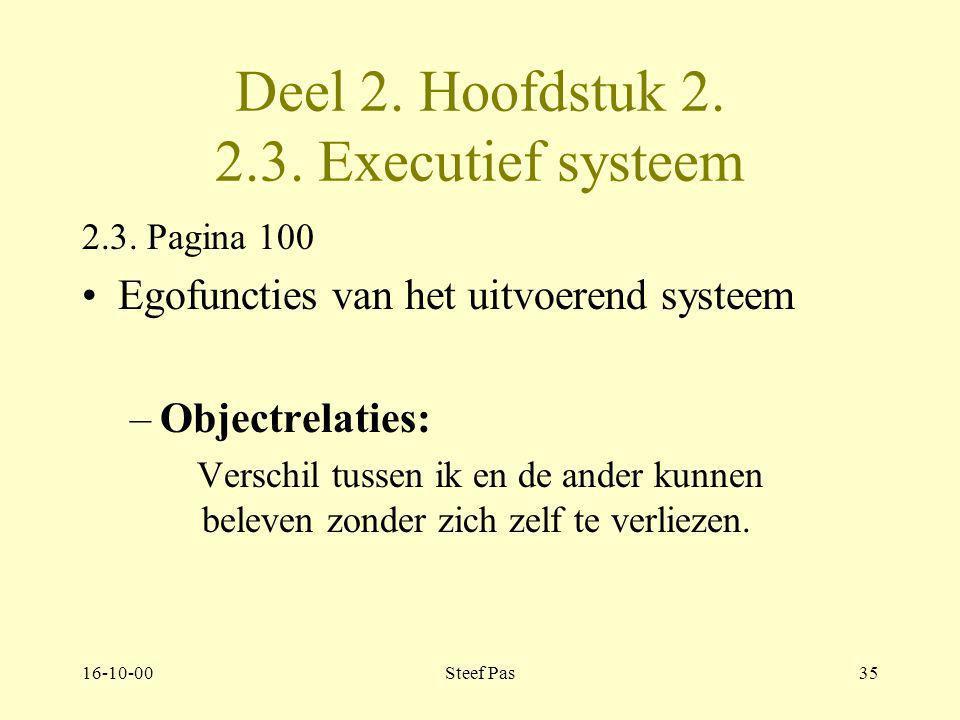Deel 2. Hoofdstuk 2. 2.3. Executief systeem