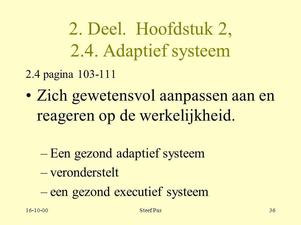 2. Deel. Hoofdstuk 2, 2.4. Adaptief systeem
