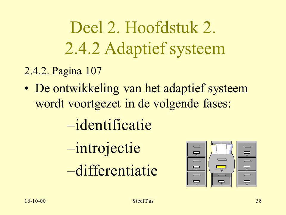 Deel 2. Hoofdstuk 2. 2.4.2 Adaptief systeem