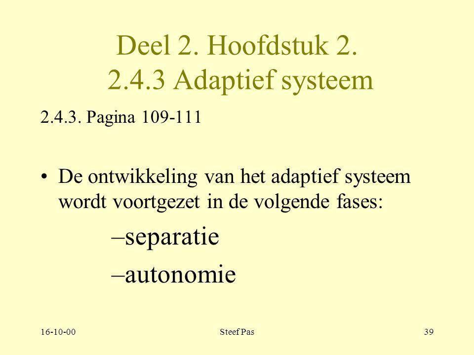 Deel 2. Hoofdstuk 2. 2.4.3 Adaptief systeem