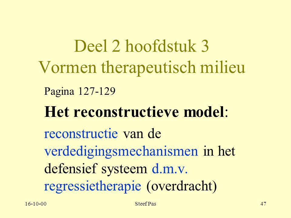 Deel 2 hoofdstuk 3 Vormen therapeutisch milieu
