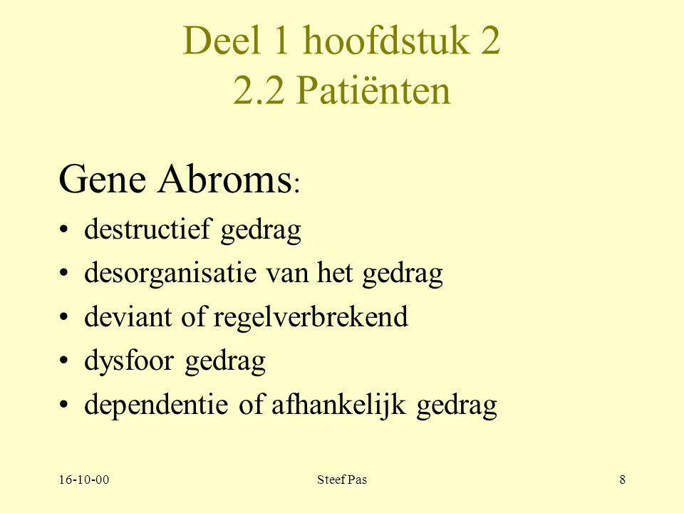 Deel 1 hoofdstuk 2 2.2 Patiënten