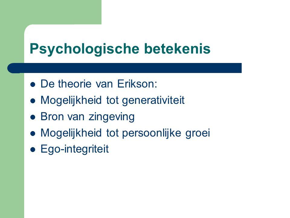 Psychologische betekenis
