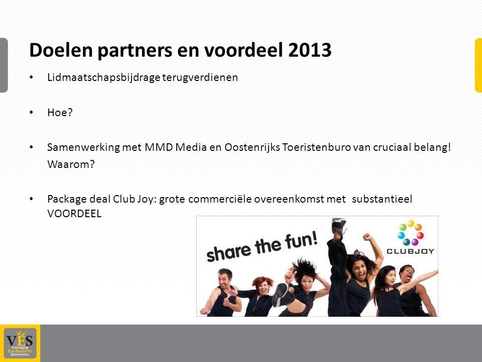 Doelen partners en voordeel 2013
