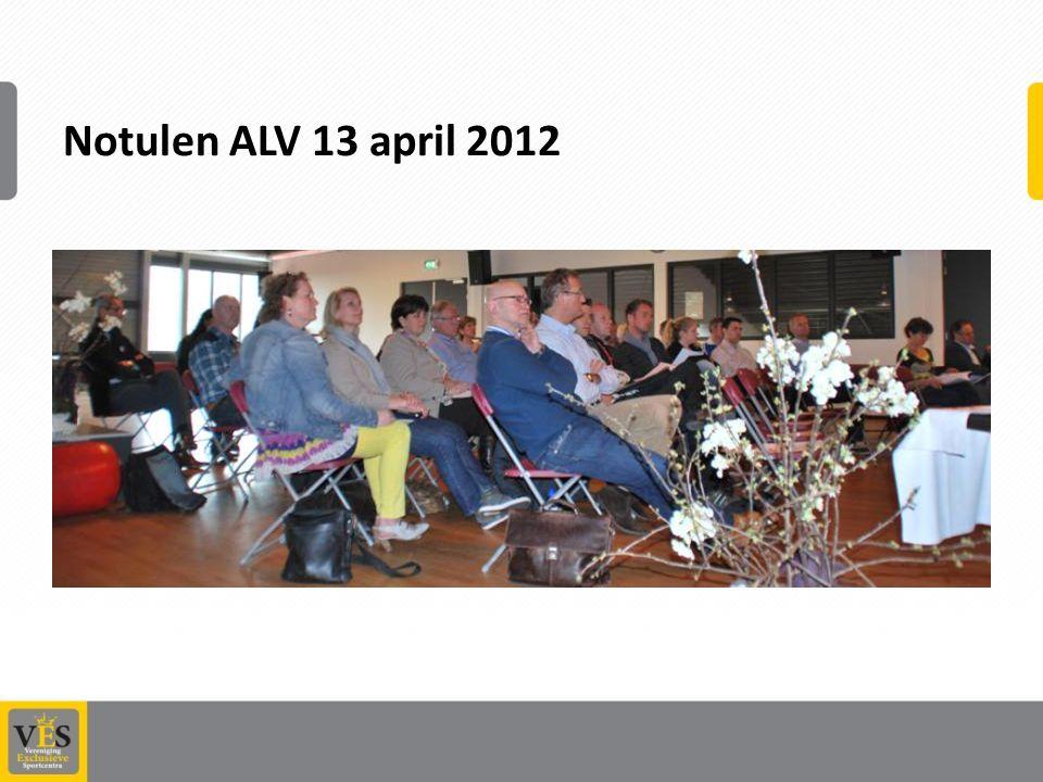 Notulen ALV 13 april 2012