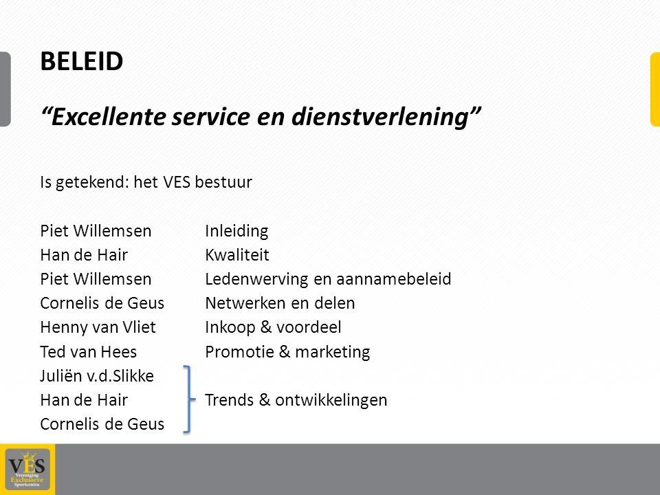 BELEID Excellente service en dienstverlening