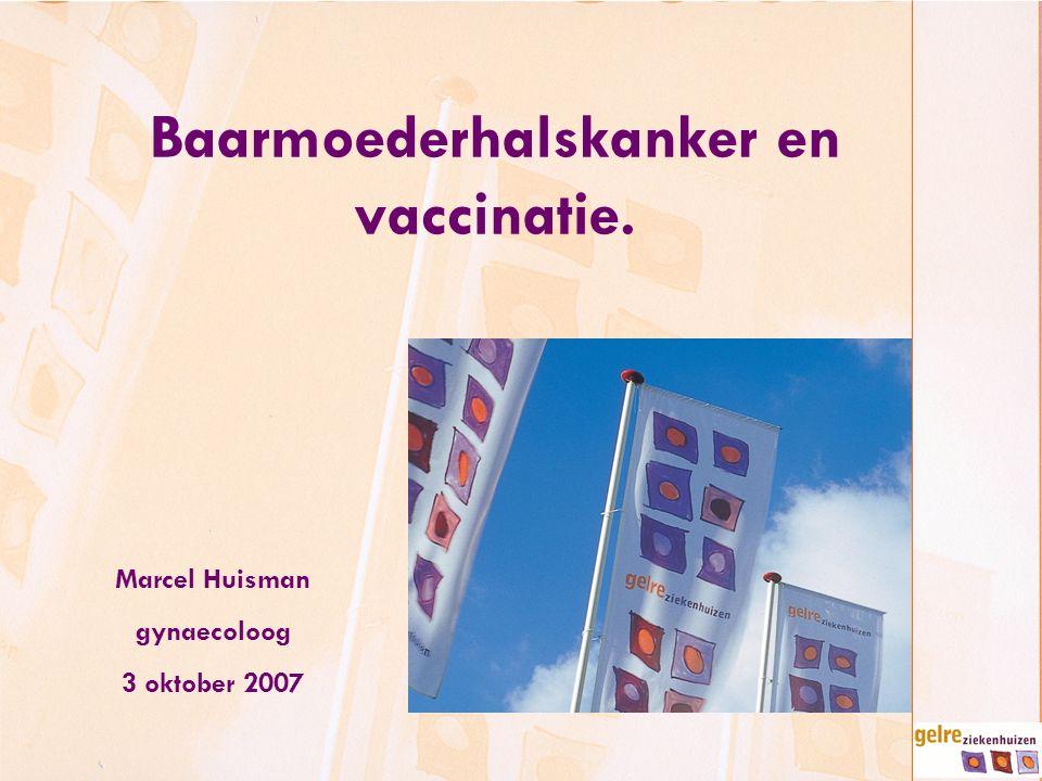Baarmoederhalskanker en vaccinatie.