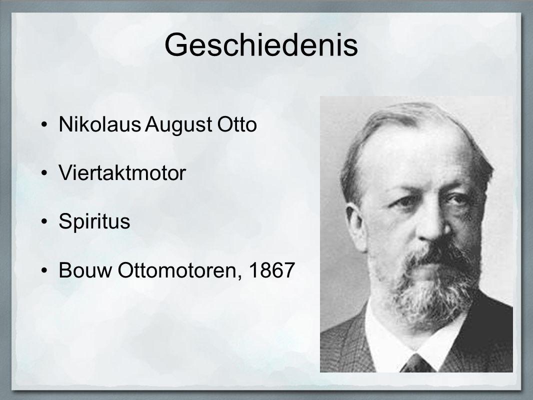 Geschiedenis Nikolaus August Otto Viertaktmotor Spiritus
