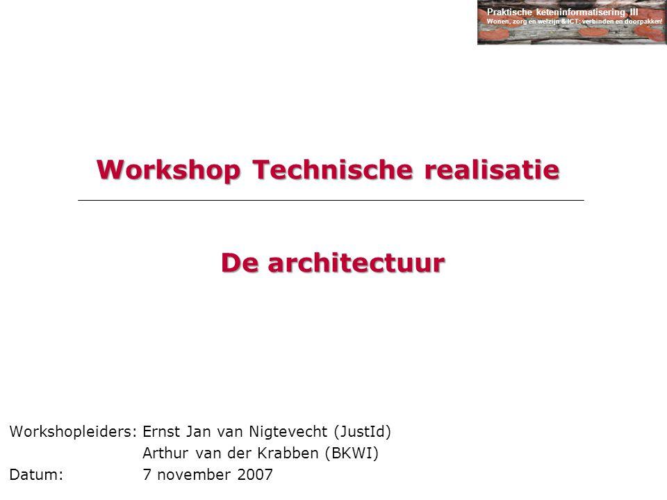 Workshop Technische realisatie De architectuur