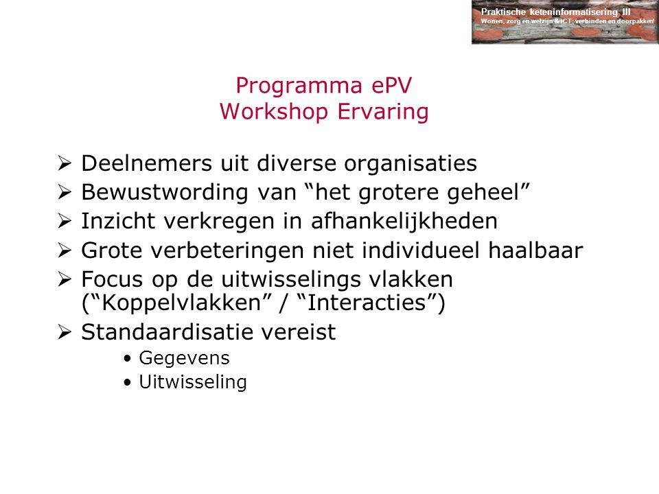 Programma ePV Workshop Ervaring