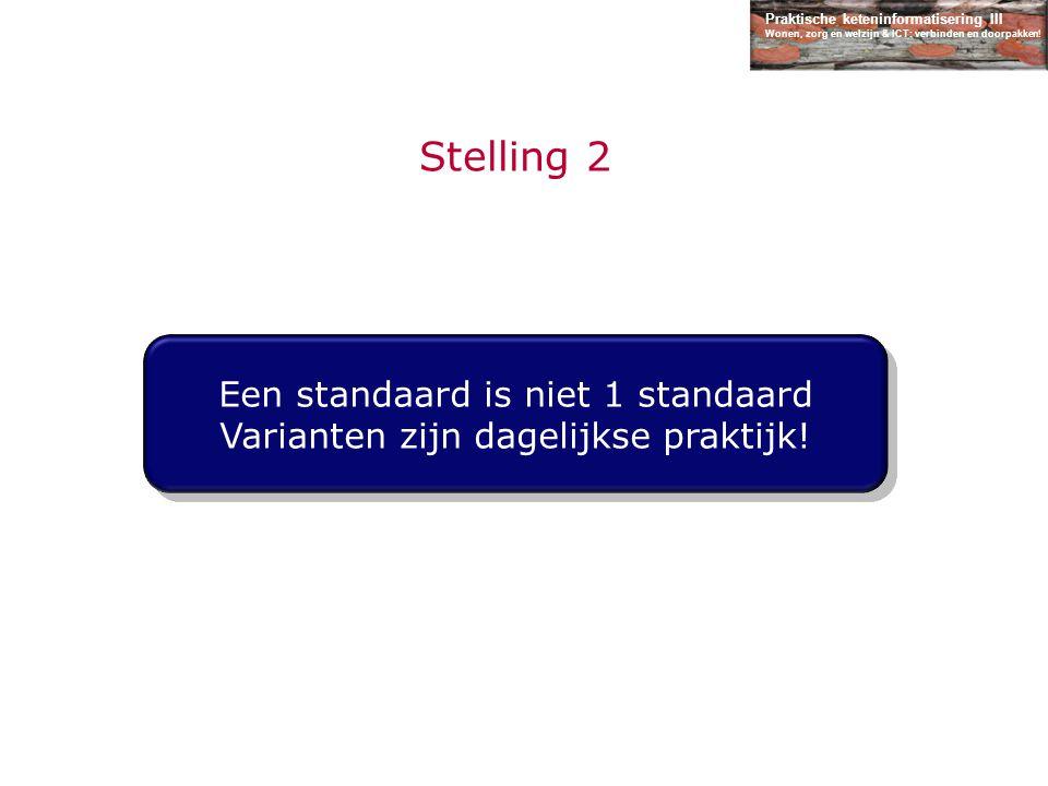 Stelling 2 Een standaard is niet 1 standaard